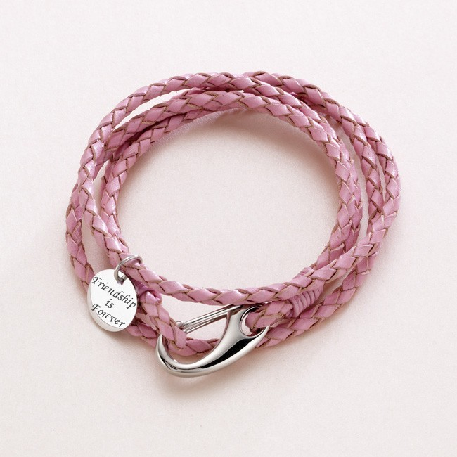 Leather Wrap Charm Bracelet: Leather Wrap Friendship Bracelets With Engraving